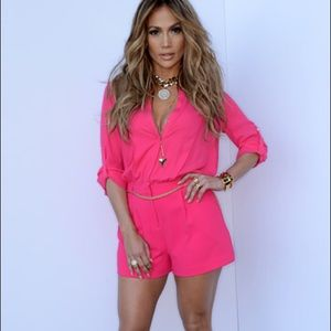 JLO *TEAL* 3/4 Sleeve Romper with Gold Belt